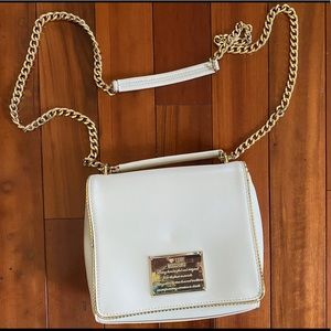 Love Moschino Ivory Chain Crossbody
